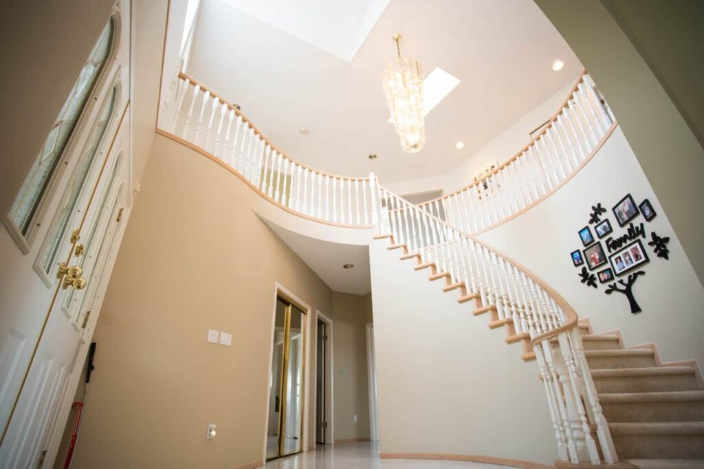 Beautiful home remodeled stairway in Rockford IL